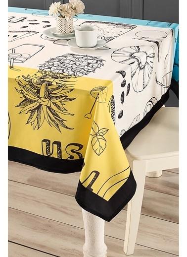 Hamur Fresh 150x150 cm Kare Masa Örtüsü Sarı